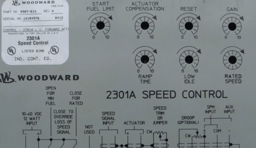 Get Your Woodward 2301A Speed Controller Today!