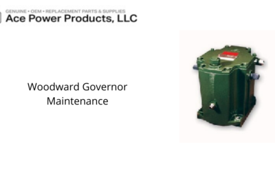 Recommended Woodward Governor Maintenance Plan